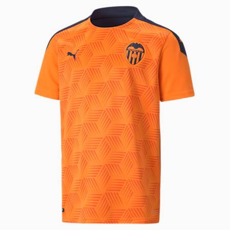 Camiseta juvenil réplica de la 2.ª equipación del Valencia CF, Vibrant Orange-Peacoat, small