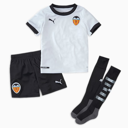 Valencia CF Home Youth Mini Kit, Puma White-Puma Black, small
