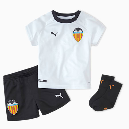 Valencia CF Home Babies' Baby Kit, Puma White-Puma Black, small
