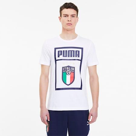 FIGC イタリア PUMA DNA Tシャツ 半袖, Puma White-Peacoat, small-JPN