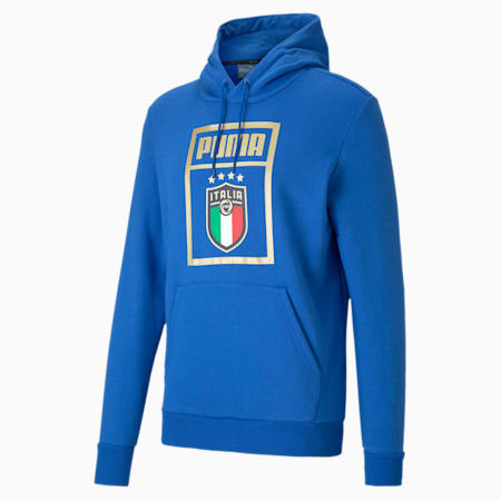 Kangourou PUMA DNA FIGC, homme, Bleu puissante équipe-Équipe or, petit