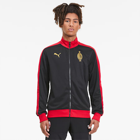 AC Milan 120th Anniversary T7 Men's Track Jacket, Puma Black-Victory Gold, small