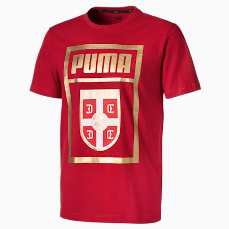 Serbia Men's PUMA DNA Tee, Chili Pepper, small