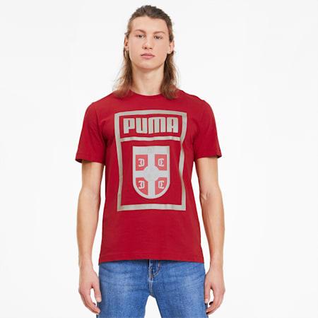 T-shirt Serbia PUMA DNA uomo, Chili Pepper, small