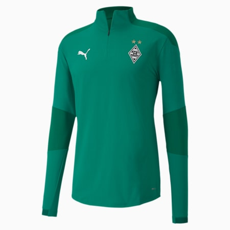 Borussia Mönchengladbach Quarter-Zip Men's Training Top, Pepper Green-Power Green, small