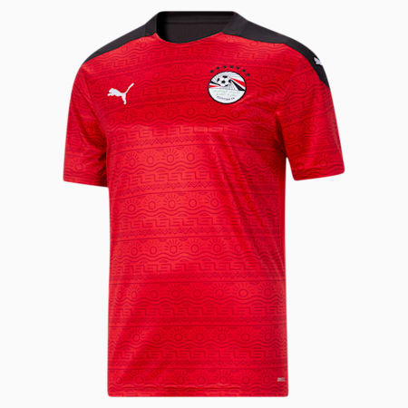 Egypt Men's Home Replica Jersey, Puma Red-Puma White, small