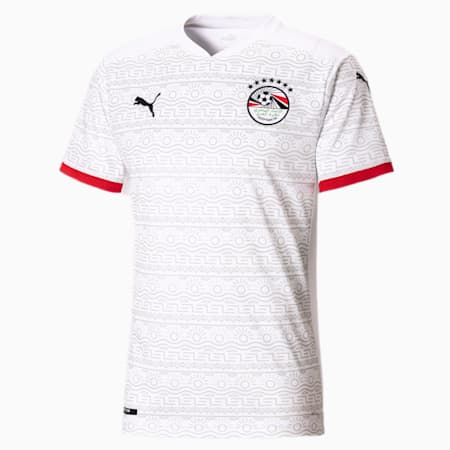 Camiseta réplica de la 2.ª equipación de Egipto para hombre, Puma White-Puma Black, small