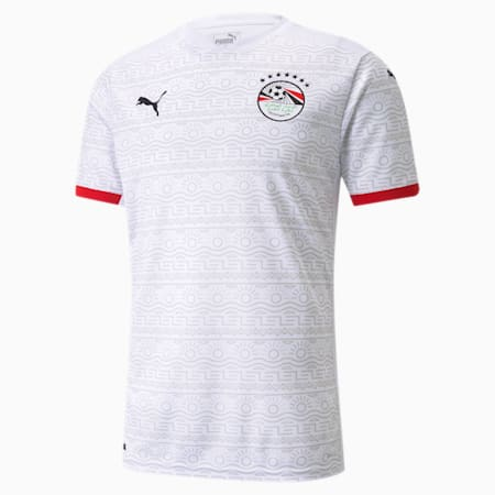 Egypt Away Replica Men's Jersey, Puma White-Puma Black, small-GBR