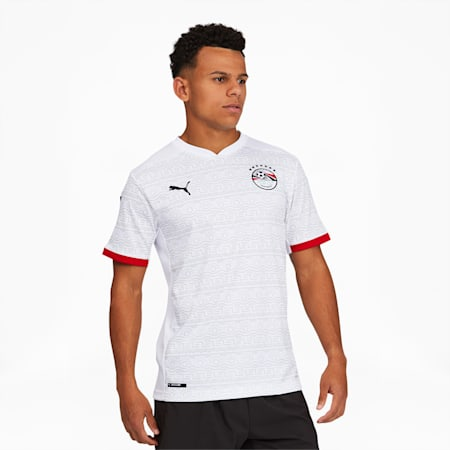 Egypt Men's Away Replica Jersey, Puma White-Puma Black, small