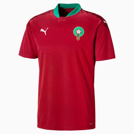 Męska replika koszulki domowej reprezentacji Maroka, Chili Pepper-Puma White, small
