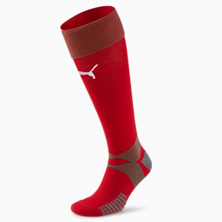 Morocco Home Replica Men's Football Socks, Chili Pepper-Puma White, small-GBR
