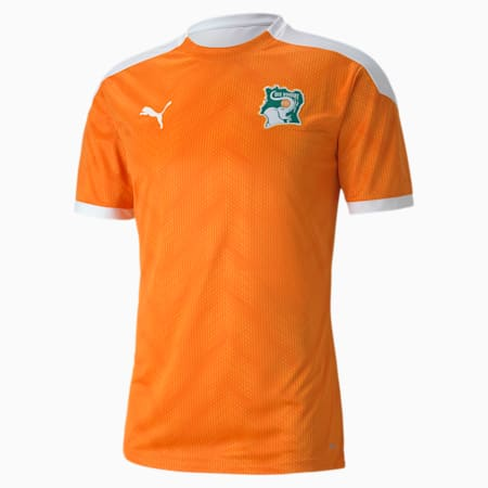 Ivory Coast Stadium Men's Jersey, Puma White-Flame Orange, small-GBR