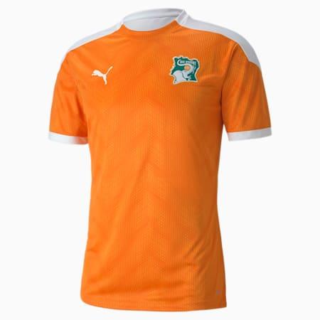 Ivory Coast Men's Stadium Jersey, Puma White-Flame Orange, small