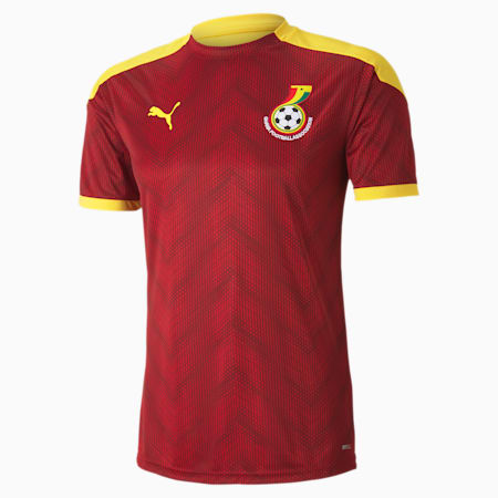 Ghana Men's Stadium Jersey, Chili Pepper-Dandelion, small