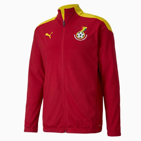 Męska stadionowa kurtka piłkarska reprezentacji Ghany, Chili Pepper-Dandelion, small