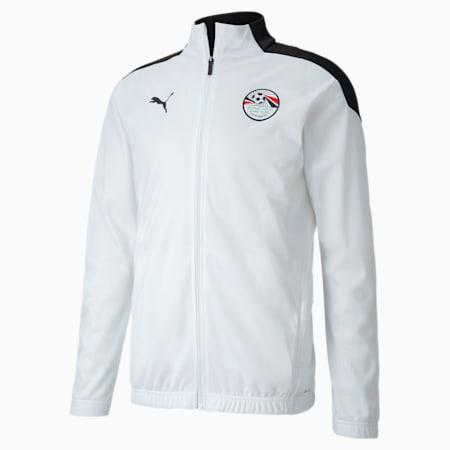 Męska stadionowa kurtka piłkarska reprezentacji Egiptu, Puma Black-Puma White, small
