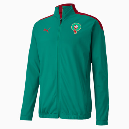 Morocco Stadium Men's Football Jacket, Pepper Green-Chili Pepper, small