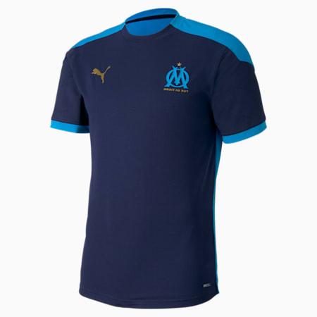 Olympique de Marseille Men's Training Jersey, Peacoat-Bleu Azur, small