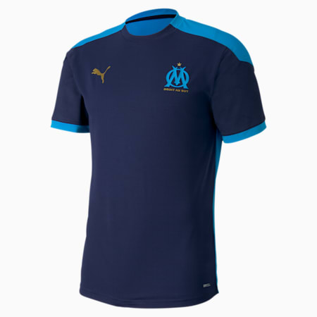 Olympique de Marseille trainingsshirt voor heren, Peacoat-Bleu Azur, small