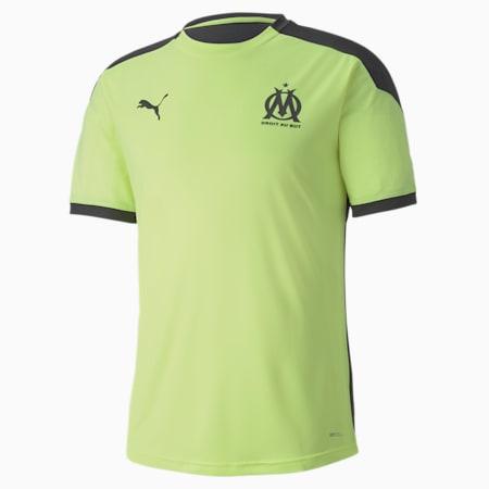Olympique de Marseille Men's Training Jersey, Fizzy Yellow-Asphalt, small