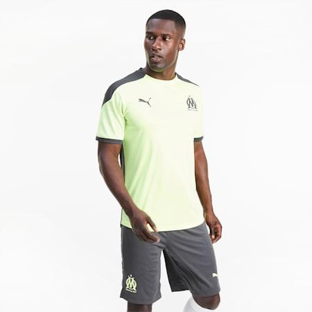 Olympique de Marseille trainingsshirt voor heren, Fizzy Yellow-Asphalt, small