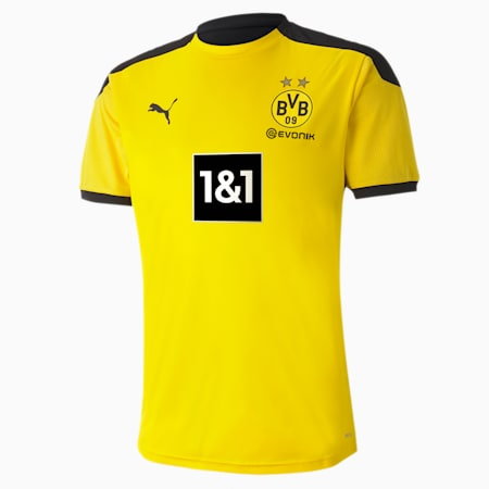 BVB Men's Training Jersey, Cyber Yellow-Puma Black, small