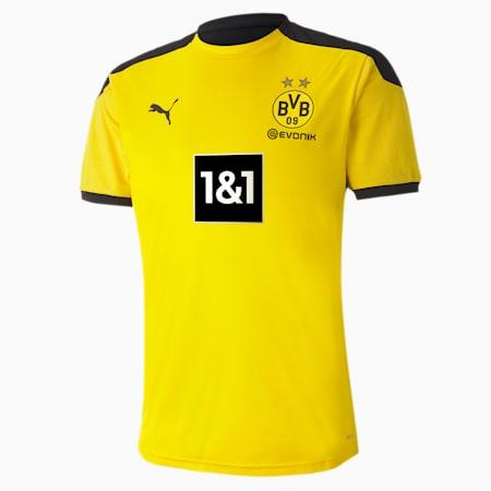 BVB trainingsshirt voor heren, Cyber Yellow-Puma Black, small