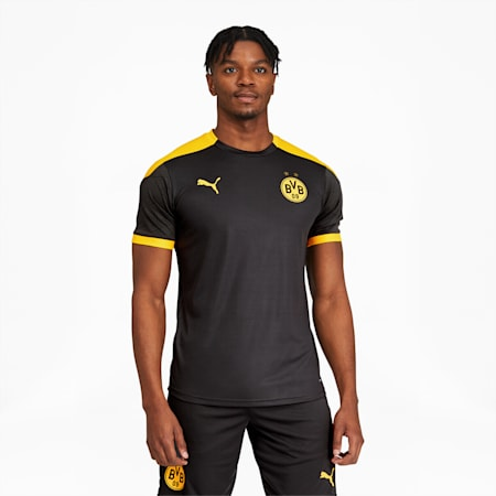 BVB Men's Training Jersey, Asphalt-Cyber Yellow, small