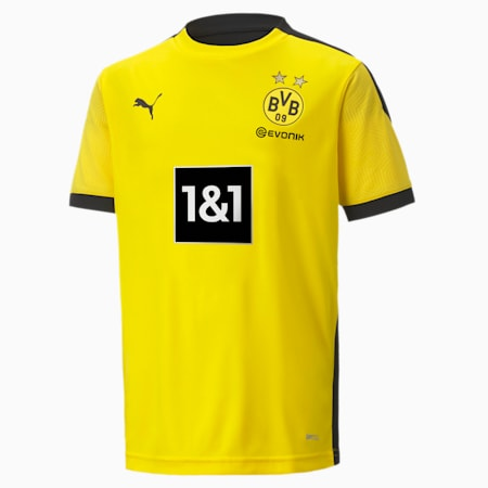 BVB trainingsshirt voor jongeren, Cyber Yellow-Puma Black, small