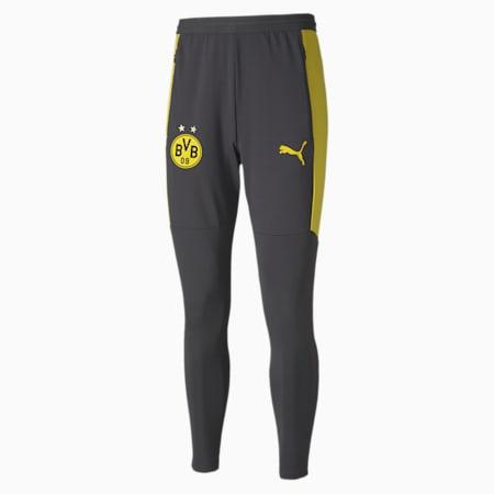 BVB Men's Training Pants, Asphalt-Cyber Yellow, small-IND