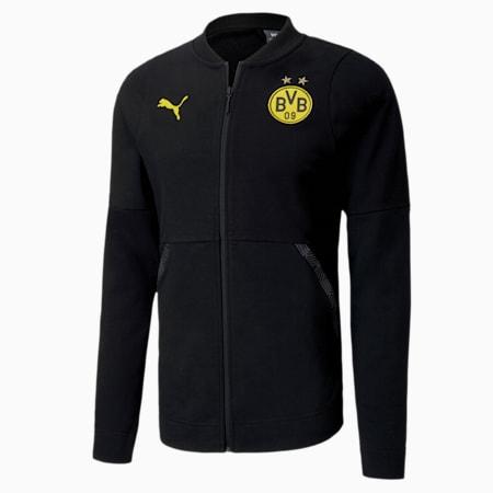 BVB Casuals Football Jacket, Puma Black, small-IND