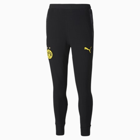 Pantaloni felpati da calcio BVB Casuals, Puma Black, small