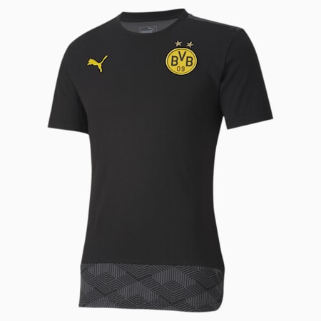 BVB Casuals voetbalshirt, Puma Black-Cyber Yellow, small