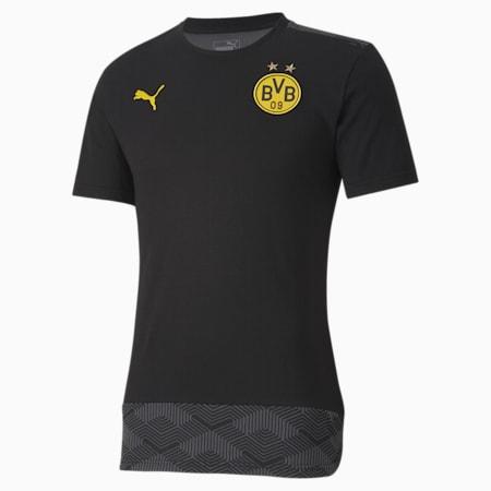 T-Shirt BVB Casuals Football, Puma Black-Cyber Yellow, small