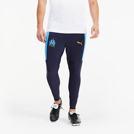 Olympique de Marseille Pro Men's Training Pants, Peacoat-Bleu Azur, small