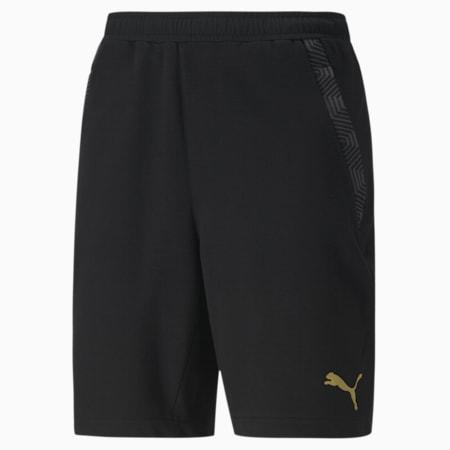 Shorts da calcio Olympique de Marseille Casuals, Puma Black-Bleu Azur, small