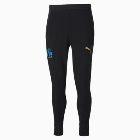 Pantalon en sweat Olympique de Marseille Casuals Football, Puma Black-Bleu Azur, small