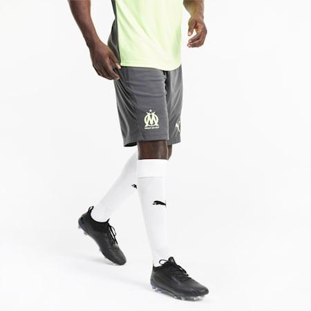 Olympique de Marseille Men's Training Shorts, Asphalt-Fizzy Yellow, small