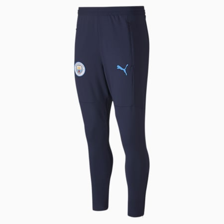 Manchester City FC Men's Training Pants, Peacoat-Team Light Blue, small