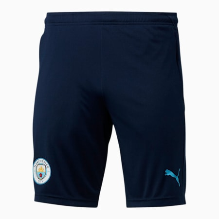 Manchester City FC Men's Training Shorts, Peacoat-Team Light Blue, small