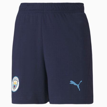 Man City Youth Training Shorts, Peacoat-Team Light Blue, small