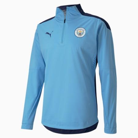 Man City Pro Men's Football Rain Top, Team Light Blue-Peacoat, small