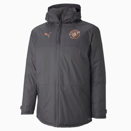 Man City Men's Winter Training Jacket, Asphalt-Copper, small