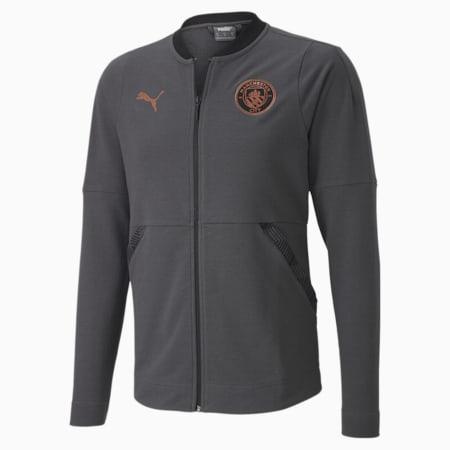 Manchester City Casuals Men's Football Jacket, Asphalt-Copper, small-IND