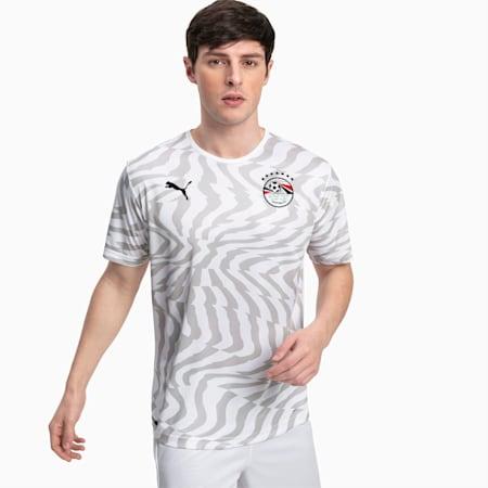Egypt Men's Away Replica Jersey, Puma White-Puma Black, small
