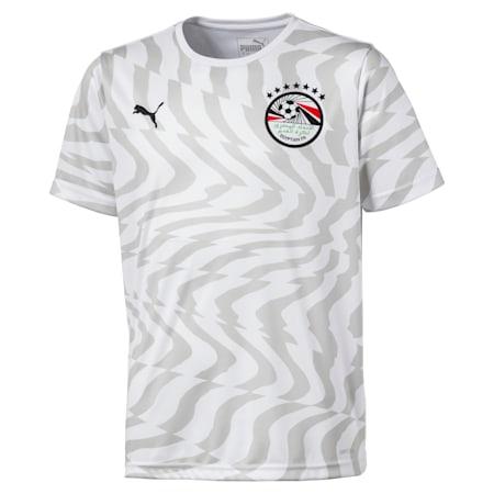 Dziecieca replika koszulki wyjazdowej druzyny Egiptu, Puma White-Puma Black, small
