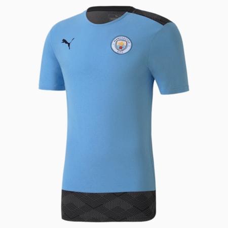 T-Shirt de football Man City Casuals pour homme, Team Light Blue-Peacoat, small
