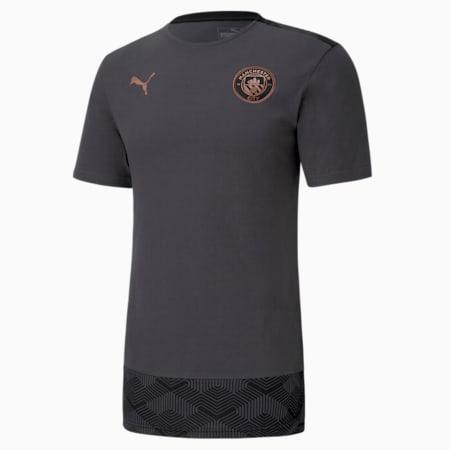 Męski T-shirt piłkarski Man City Casuals, Asphalt-Copper, small