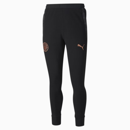 Man City Casuals Men's Football Sweatpants, Puma Black-Copper, small