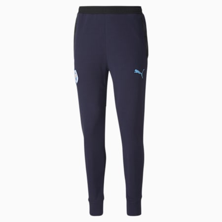 Manchester City Casuals Men's Football Sweatpants, Peacoat-Team Light Blue, small-IND
